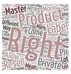 Resell Rights Master Rights Private Label Rights vector image
