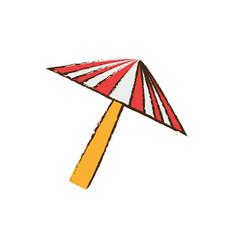 Umbrella equipment picnic travel vector