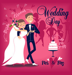 Card for wedding day vector