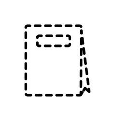 Handbag or shopping bag icon vector