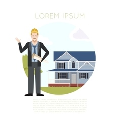 Home building banner1 vector image vector image