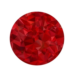 Red polygonal sphere vector image vector image
