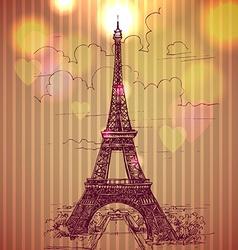 World famous landmark series Eiffel Tower Paris vector image vector image