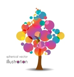 Colorful trees vector image vector image