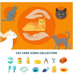 pet care icons vector image