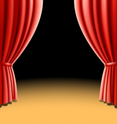Red theater curtain vector