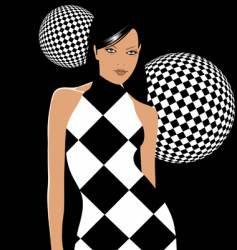 retro party girl vector image vector image