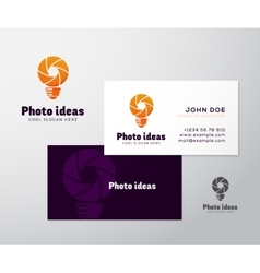 Abstract Logo Business Card Template or vector image