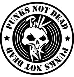 Punk rock logo vector