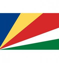 seychelles flag vector image vector image