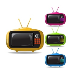 some TV sets animation vector image vector image