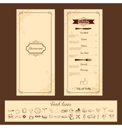 Template for Menu Card vector image vector image
