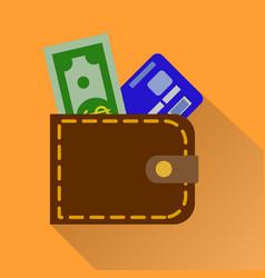 wallet icon in color money case cash shopping vector image vector image