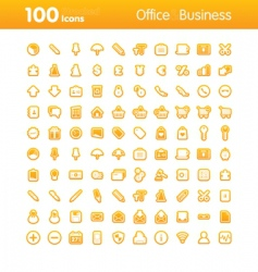 100 icons office vector