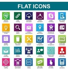 30 Universal Flat Icons vector image