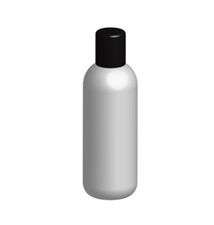 3d bottle on white background 3d white plastic vector image