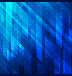 abstract background blue glowing lights geometric vector image