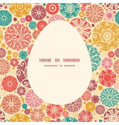 abstract decorative circles Easter egg vector image