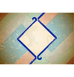 Aged frame with blue border vector image