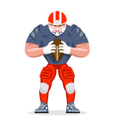american football rugby player character vector image