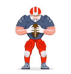 american football rugplayer character vector image