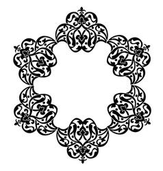 Antique ottoman turkish pattern design vector