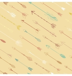 Arrows for bow modern seamless pattern vector image