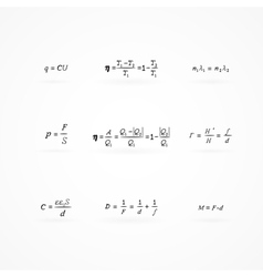 Background with equations and formulas vector