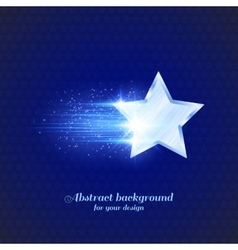 Background with glowing star vector image