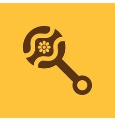 Beanbag icon design Rattle and maraca clack vector