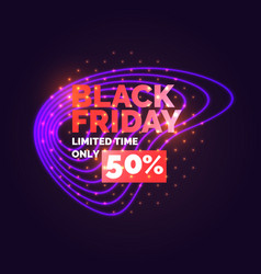 black friday banner original poster for discount vector image