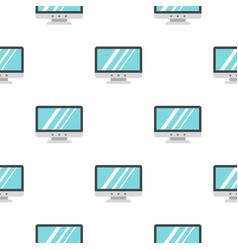 Blank computer monitor pattern seamless vector