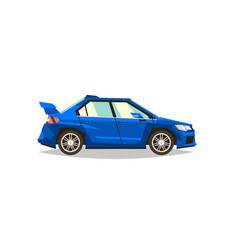 blue car sedan side view transport for travel vector image