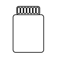 bottle empty container plastic icon vector image