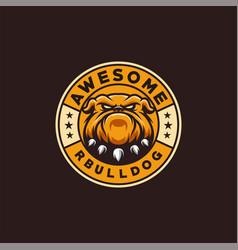 Bulldog logo design ready to use vector