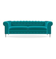 chesterfield sofa isolated comfortable couch seat vector image