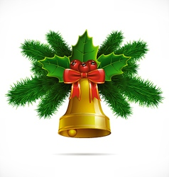christmasbell isolated vector image
