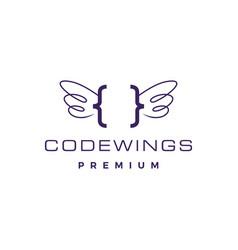 code wing angel logo icon vector image