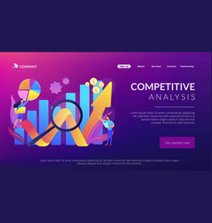 Competitive analysis concept landing page vector