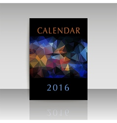 Cover calendar 2016 polygonal design vector