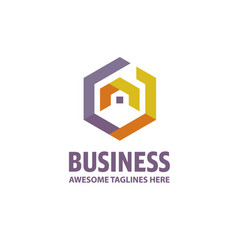 creative real estate logo vector image