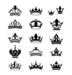 Crowns silhouettes vector