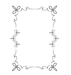 Decorative vertical frame with curls and scroll vector