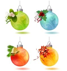different christmas glass balls vector image