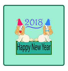 Dog is a symbol of the 2018 chine new year vector