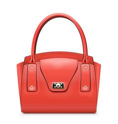 Fashion red handbag vector