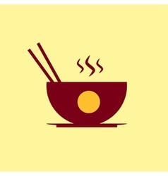 Fast food icon Chinese meal pictogram vector image