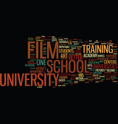 Film school university text background word cloud vector