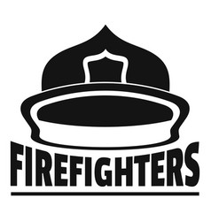 firefighters helmet logo simple style vector image