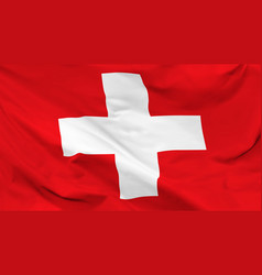 flag swiss confederation vector image